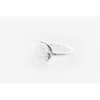 Small Moon Disc Ring