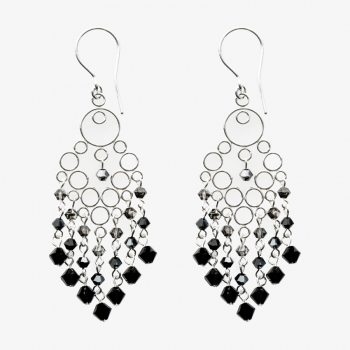 Glamour Medium Earrings Black