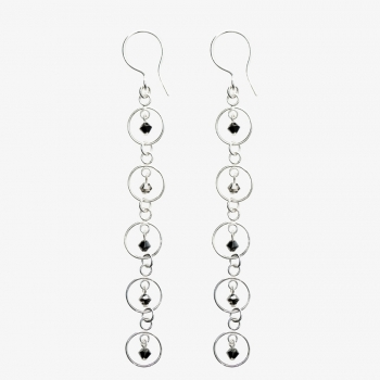Sparkles 5 Circle Drop Earrings Ash