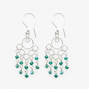 Glamour Small Earrings Emerald