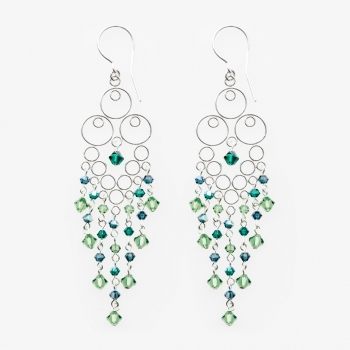Glamour Large Earrings Green