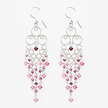 Glamour Large Earrings Rose