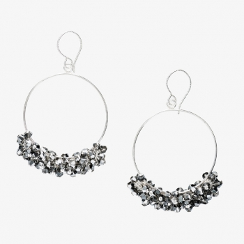 Glamour Hoop Earrings Black