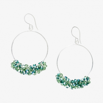 Glamour Hoop Earrings Green