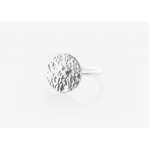 Large Moon Disc Ring (Personalisable)