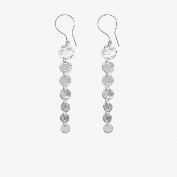 Graduated Moon Discs Earrings