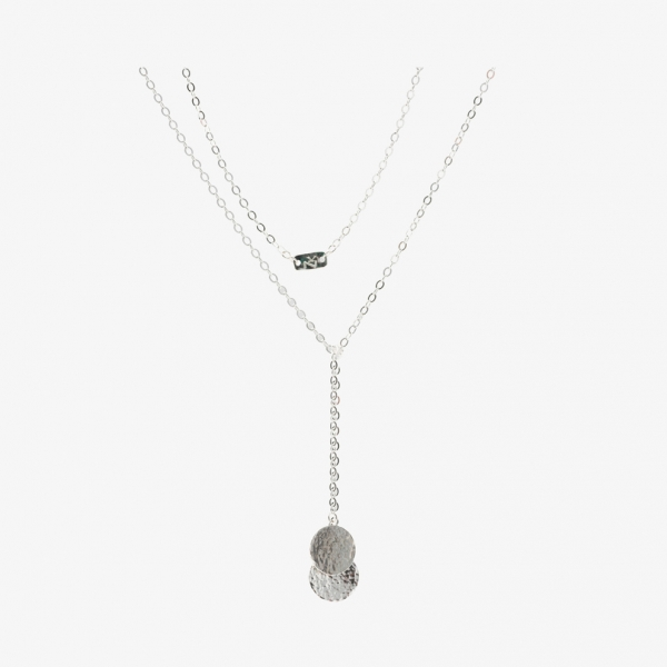 Threads Sterling Silver Discs Necklace