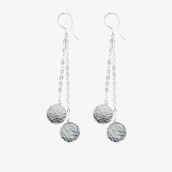 Threads Sterling Silver Discs Earrings