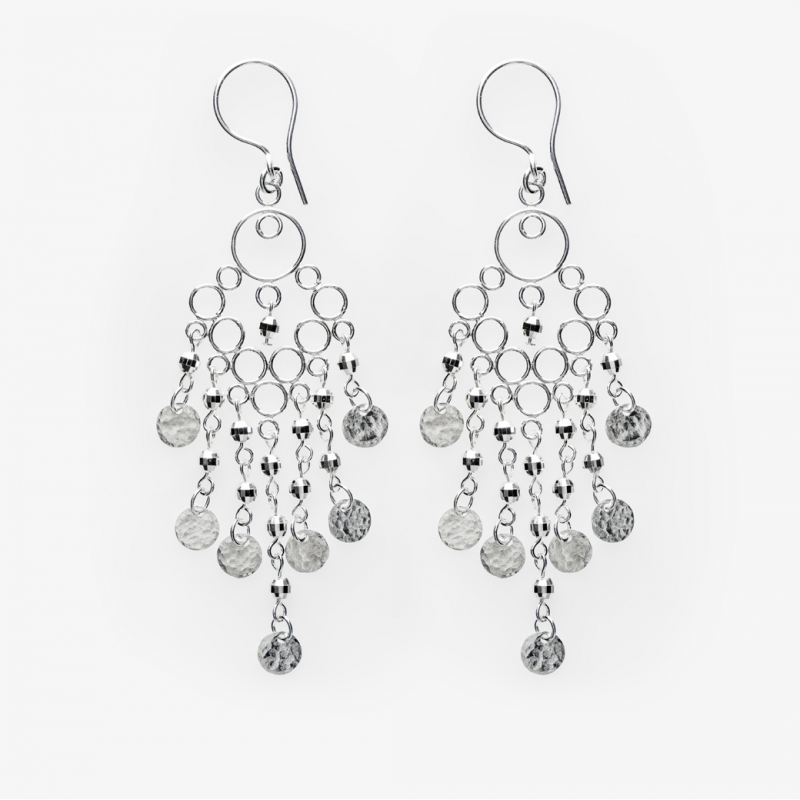 Glitz Glam Blue Diamontrigue Jewelry: Sparkles Large Glamour Earrings - ZEOLITA By K