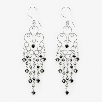 Glamour Large Earrings Black