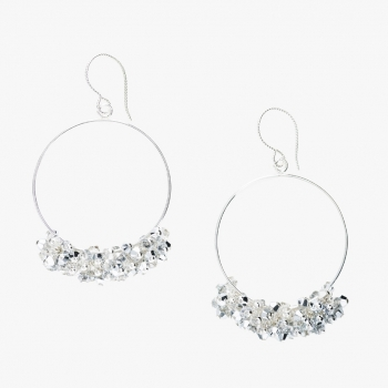Glamour Hoop Earrings Silver