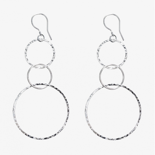 Large Simply Round Hoop Earrings