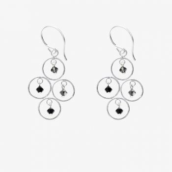 Sparkles 4 Circles Earrings Ash