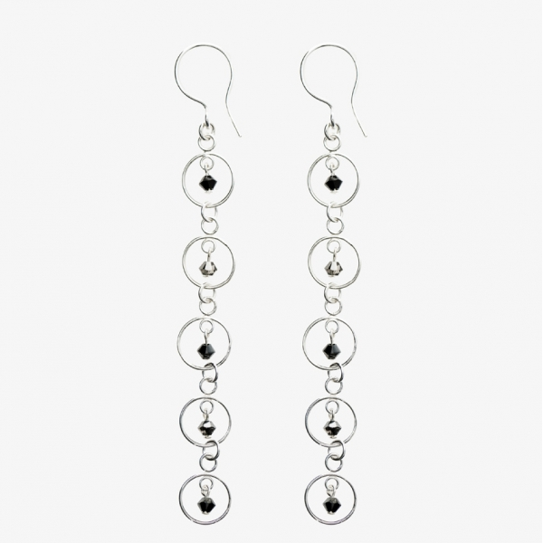 Sparkles 5 Circle Drop Earrings
