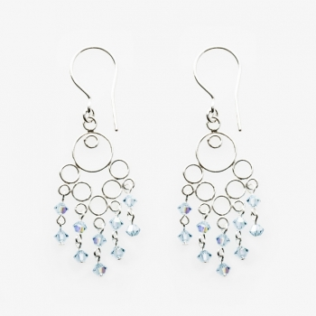 Glamour Small Earrings Aguamarina