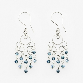 Glamour Small Earrings Denim