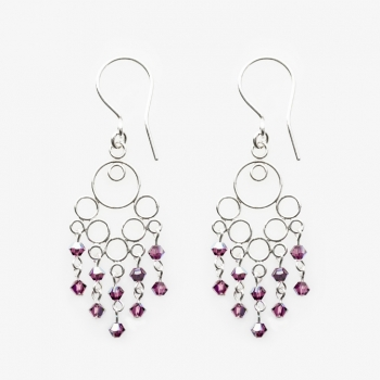 Glamour Small Earrings Amethyst