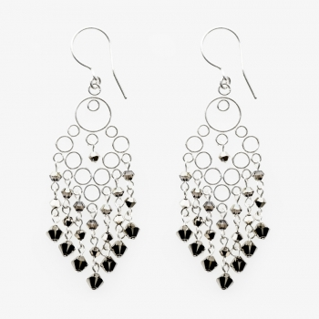 Glamour Medium Earrings Marrón