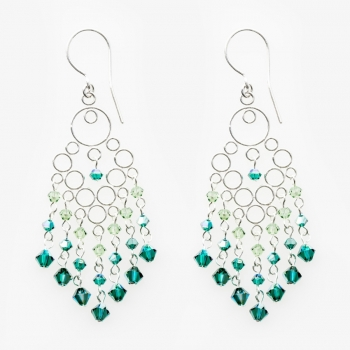 Glamour Medium Earrings Green