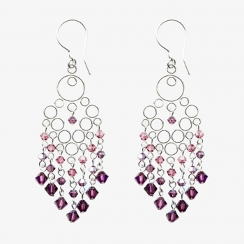 Glamour Medium Earrings Amethyst