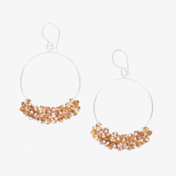 Glamour Hoop Earrings Copper