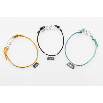 ZbyK Logo Plate Bracelet Personalisable Options